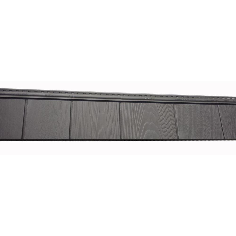 6-1/2 in. x 60-1/2 in. Cape Grey Engineered Rigid PVC Shingle Panel 5 in. Exposure (24 per Box)