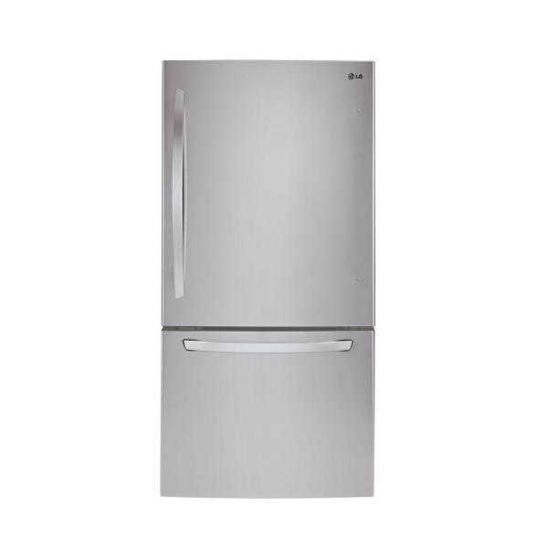 LG LDCS24223W 33 Inch Bottom Freezer Refrigerator