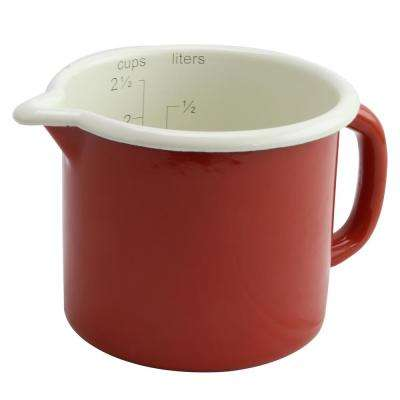 Nessa Red Steel Measuring Cup