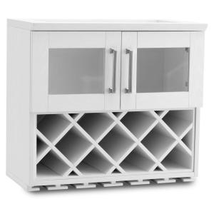 NewAge Products Home Bar White Wall Wine Rack Cabinet by NewAge Products