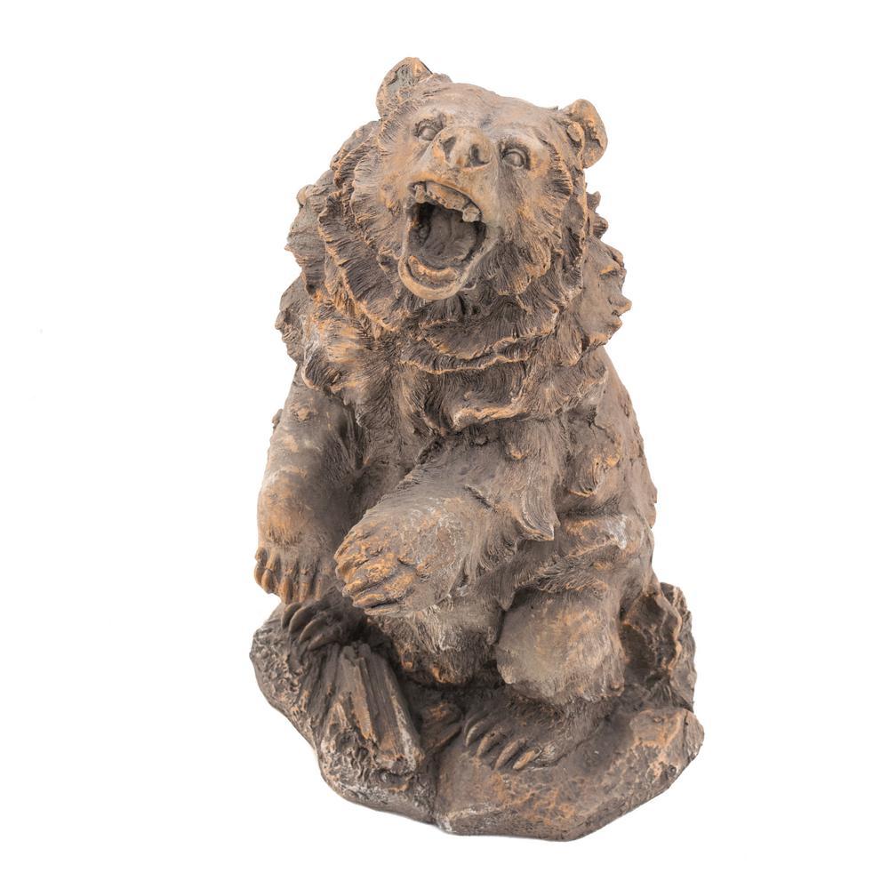 Growling Bear Garden Statue