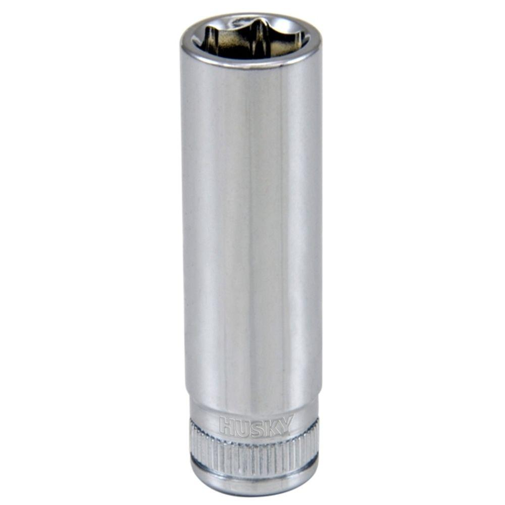 Husky 1/4 in. Drive 10 mm 6-Point Metric Deep Socket