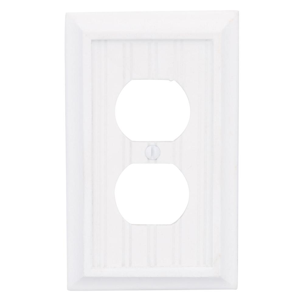 electrical wall plate covers decorative electrical wall.htm hampton bay cottage 1 gang duplex composite wall plate white  2  gang duplex composite wall plate
