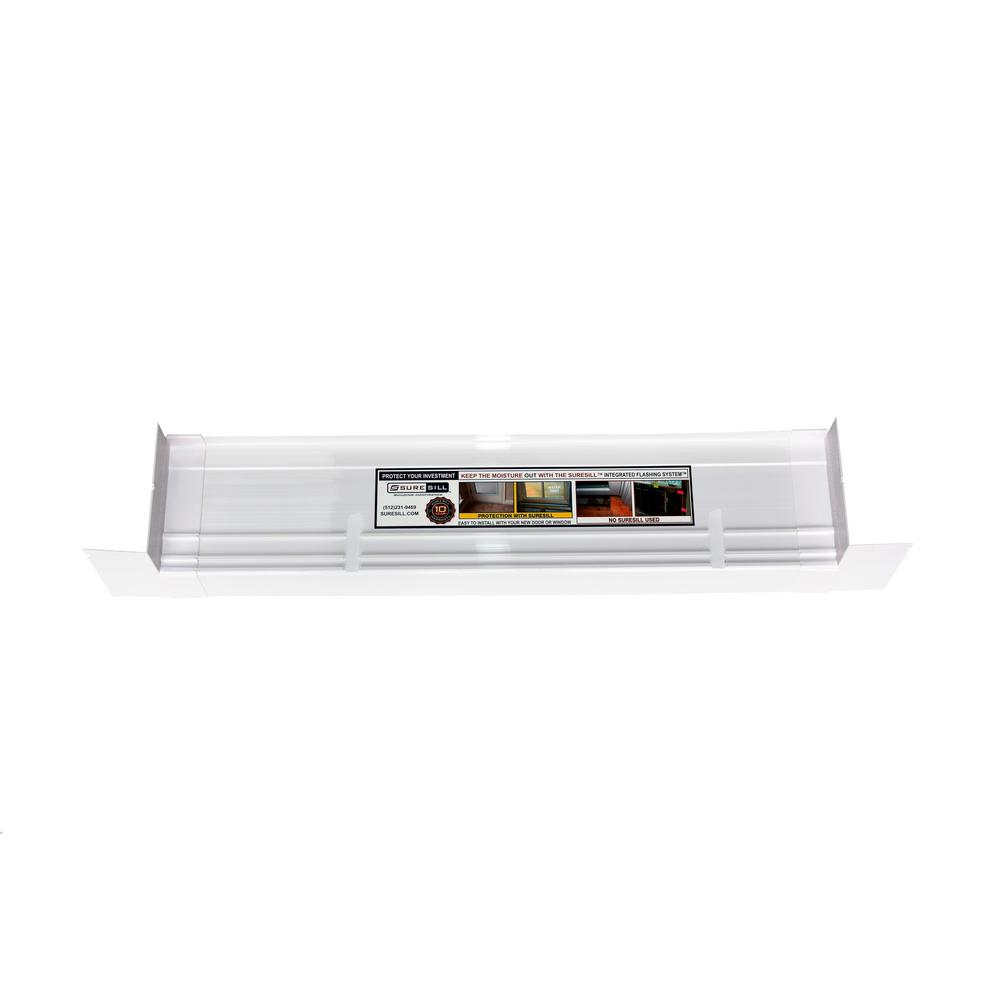 4-9/16 in. x 39 in. White PVC Sloped Sill Pan for