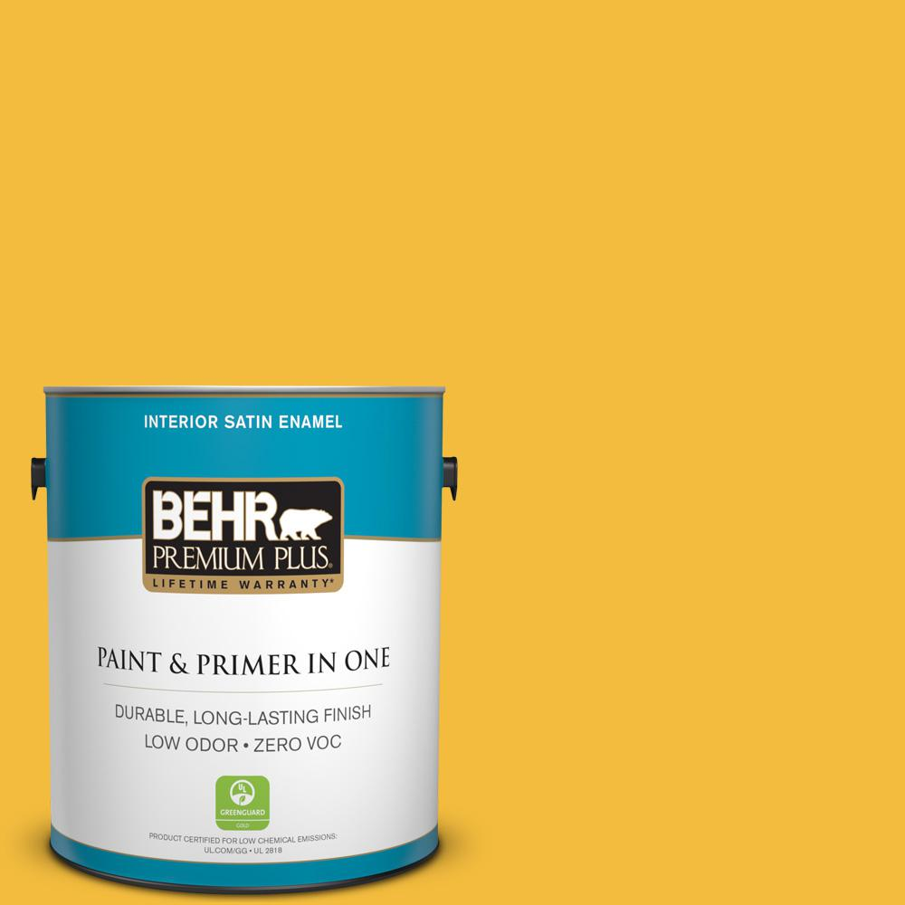 BEHR Premium Plus 1-gal. #P280-6 Bling Bling Satin Enamel Interior Paint