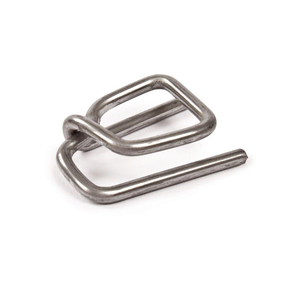 Pratt Retail Specialties 3/8 in. and 1/2 in. Standard Duty Open Metal Buckle for Polypropylene Strapping (Case-1000)