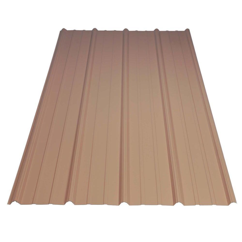 Great 29 Gauge Galvanized Steel Mocha Tan Roof Panel 05027   The Home Depot