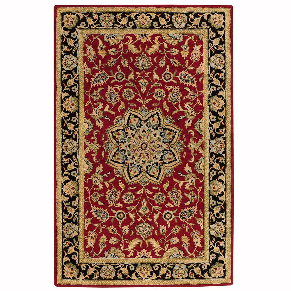 Home Decorators Collection Earley Red 8 Ft X 11 Ft Area Rug 7108220110 The Home Depot