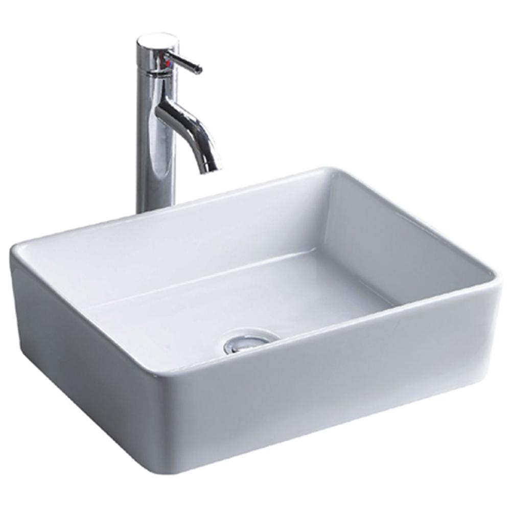 Wells China Luxe Series Vitreous Ceramic Vessel Sink in white