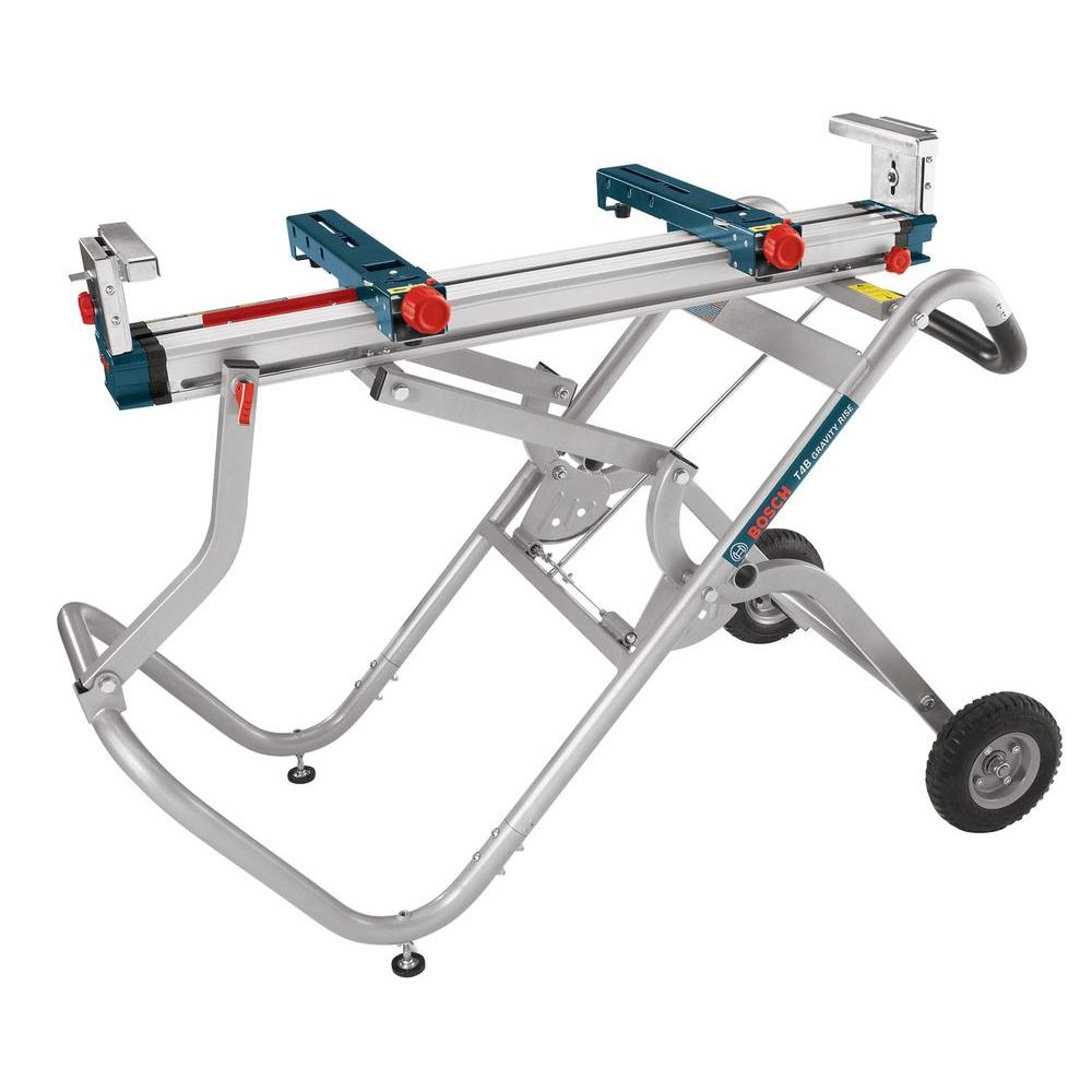 Gravity-Rise Miter Saw Stand with Wheels