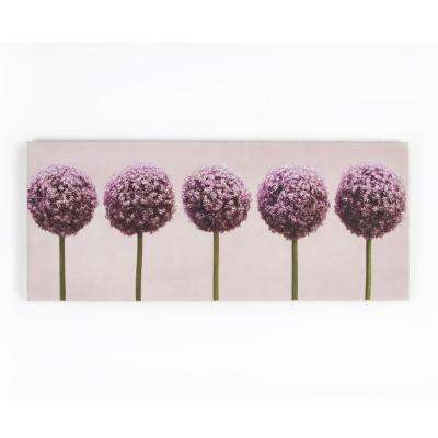 """39 in. x 16 in. """"Row Of Alliums"""" by Graham and Brown Printed Canvas Wall Art"""
