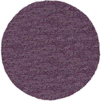 Luxe Solo Fig Purple 8' x 8' Round Rug