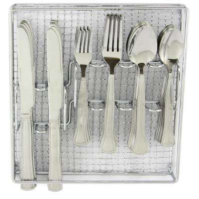Grand Abby 61-Piece Stainless Steel Flatware Set