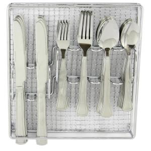 Click here to buy GIBSON HOME Grand Abby 61-Piece Stainless Steel Flatware Set by GIBSON HOME.
