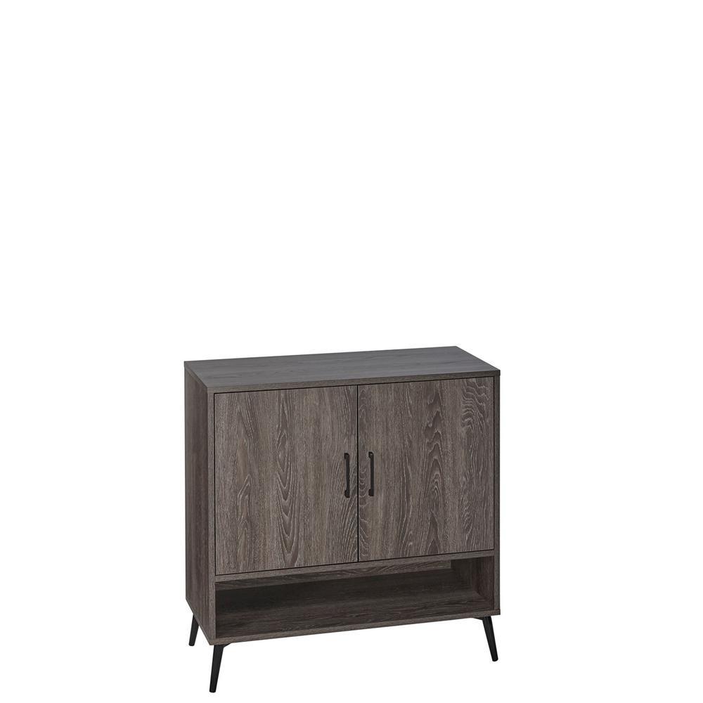 Woodbury Weathered Wood Shoe Cabinet