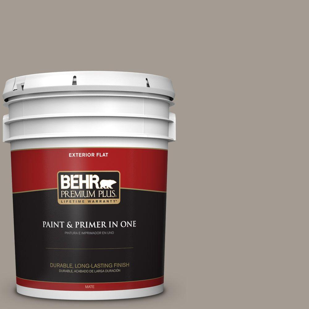 5-gal. #BXC-54 River Pebble Flat Exterior Paint