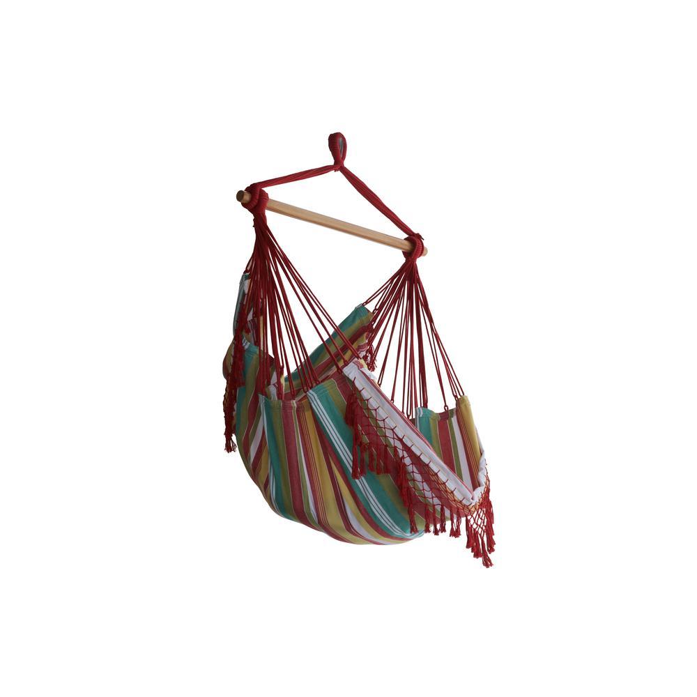 2.5 ft. Brazilian Style Cotton Hammock Chair in Multi-Colors