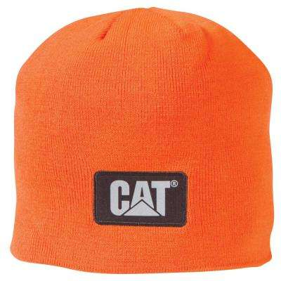 Hi-Vis Men's One Size Orange Acrylic/Spandex Knit Cap Beanie