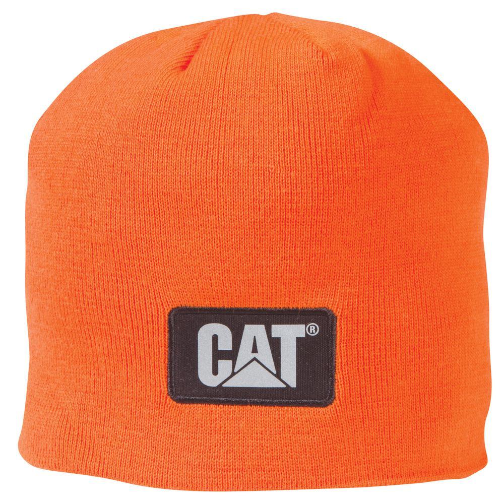 Hi-Vis Men's One Size Orange Acrylic/Spandex Knit Cap Beanie