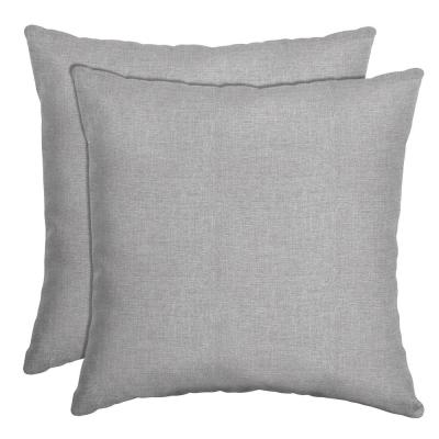 16 in. x 16 in. Paloma Woven Outdoor Throw Pillow (2-Pack)