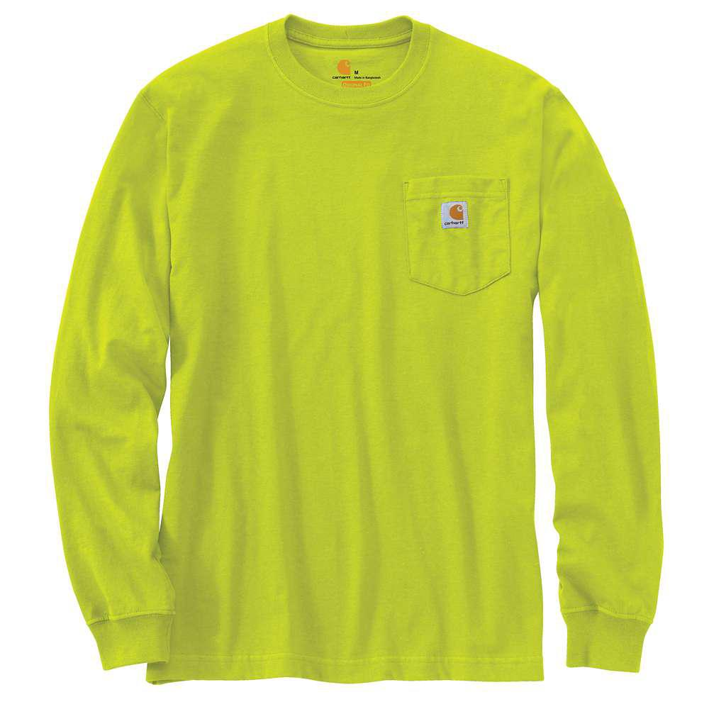 Men's Regular Large Sour Apple Cotton Long-Sleeve T-Shirt