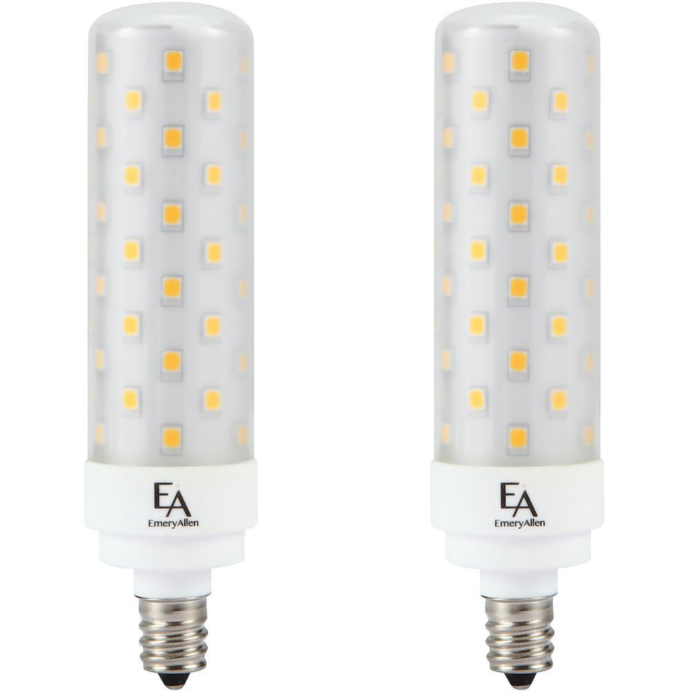 75-Watt Equivalent E12 Base Dimmable 3000K LED Light Bulb Soft White (2-Pack)
