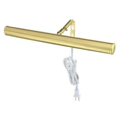 14 in. Polished Brass Slimline Picture Light