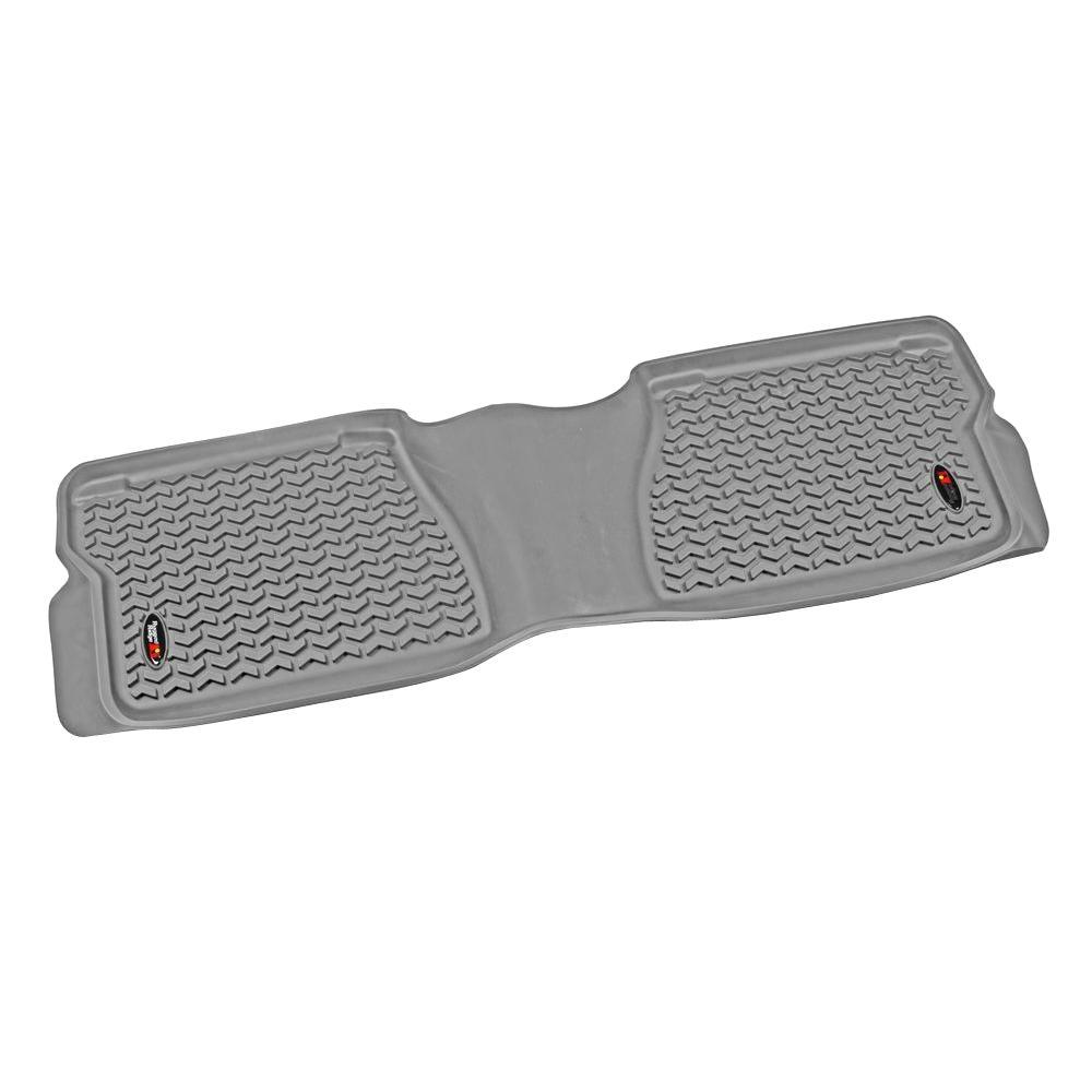 Rugged Ridge Floor Liner Rear 1-Piece Gray 2007-2011 Toyota Tundra Crew/Double Cab