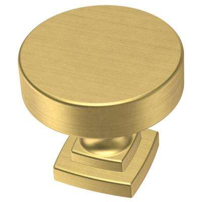 Classic Bell 1-1/4 in. (32 mm) Brushed Brass Cabinet Knob