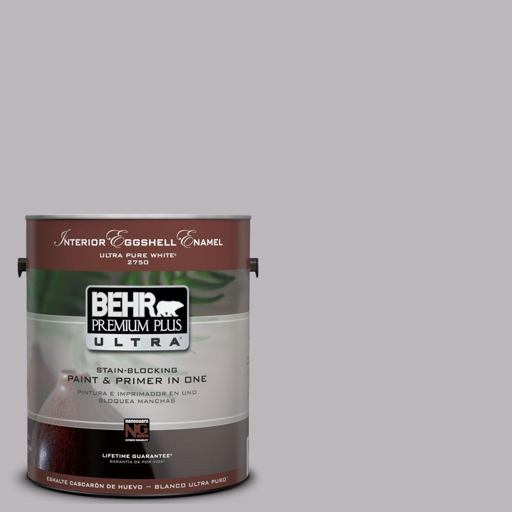 BEHR Premium Plus Ultra 1-Gal. #UL250-15 French Lilac Interior Eggshell Enamel Paint