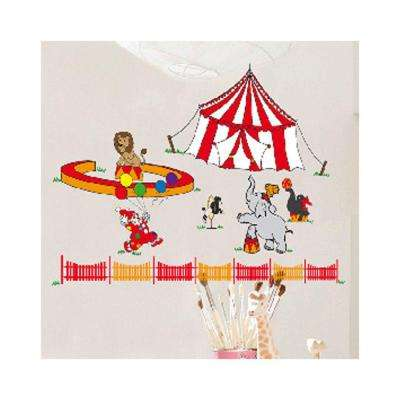 36 in. H x 36 in. D 11-Piece Circus Wall Sticker (2-Sheets)