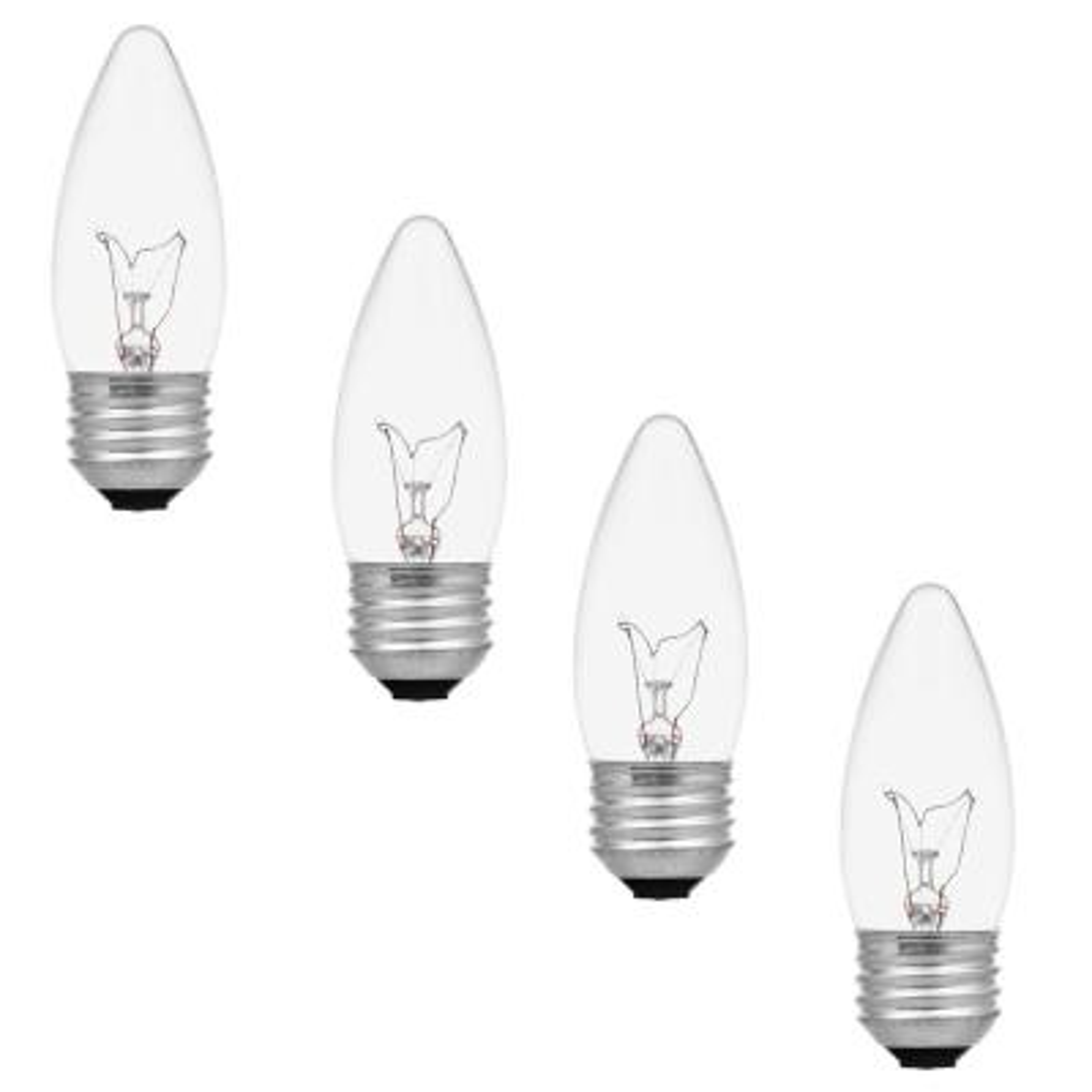 40-Watt Double Life B10 Incandescent Light Bulb (4-Pack)