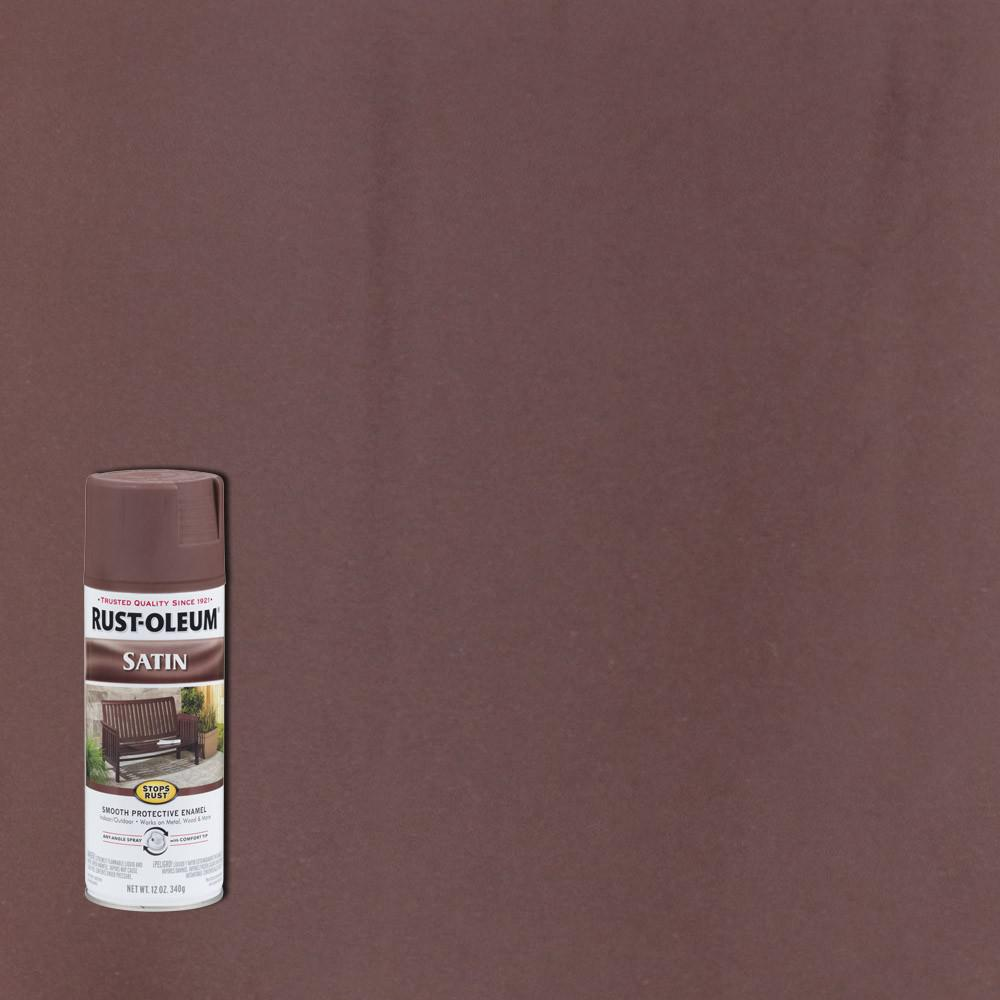 12 oz. Protective Enamel Newberry Satin Spray Paint (6-Pack)