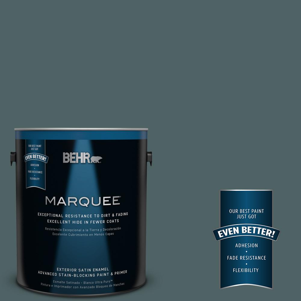 BEHR MARQUEE 1-gal. #PPU12-20 Underwater Satin Enamel Exterior Paint