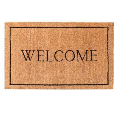 Welcome Border 36 in. x 72 in. Door Mat