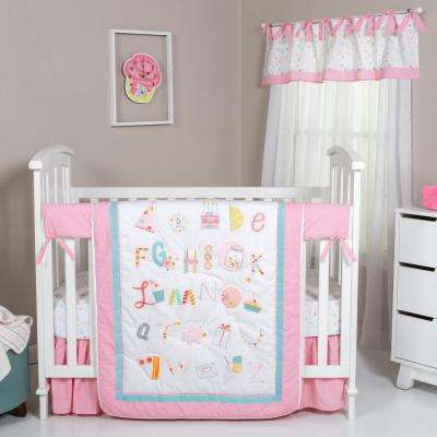 Alphabet Cake 4-Piece Crib Bedding Set