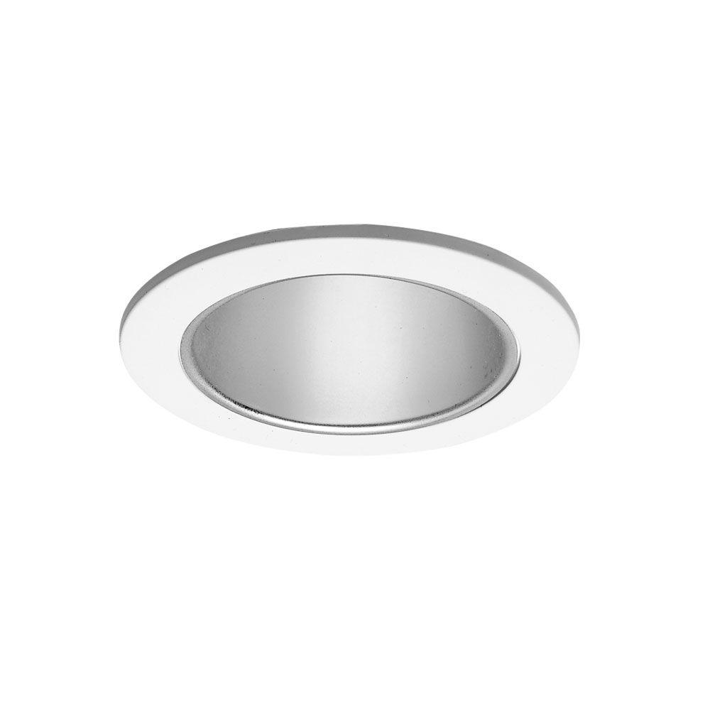 Halo 4 In Satin White Recessed Ceiling Light Cone Trim