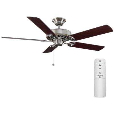 Farmington 52 in. Brushed Nickel Smart Ceiling Fan with WINK Remote Control