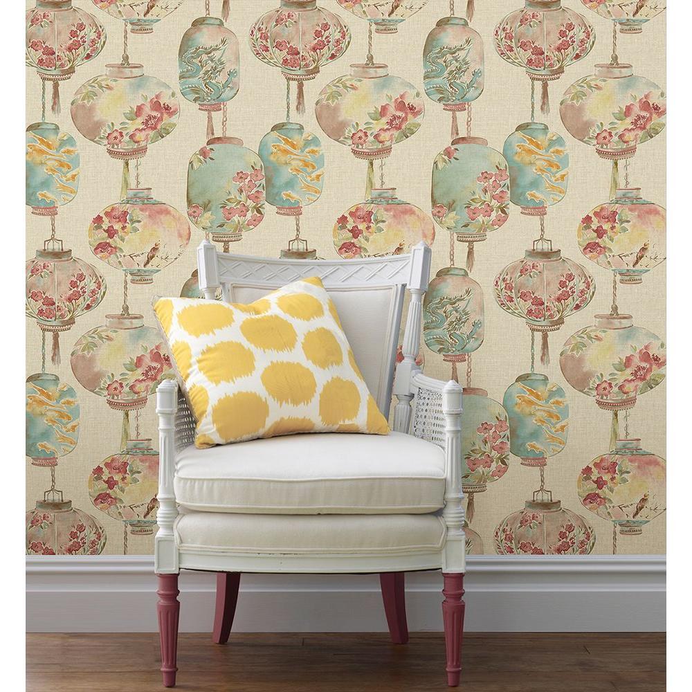 Beacon house kana beige lantern festival wallpaper 2669 for Chinoiserie design