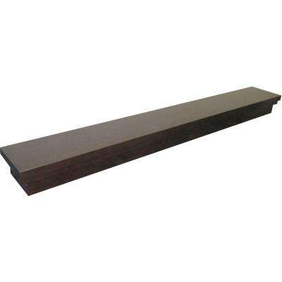 Roman 5 ft. Espresso Cap-Shelf Mantel
