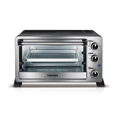 1500 W 6-Slice Stainless Steel Convection Toaster Oven with Broiler