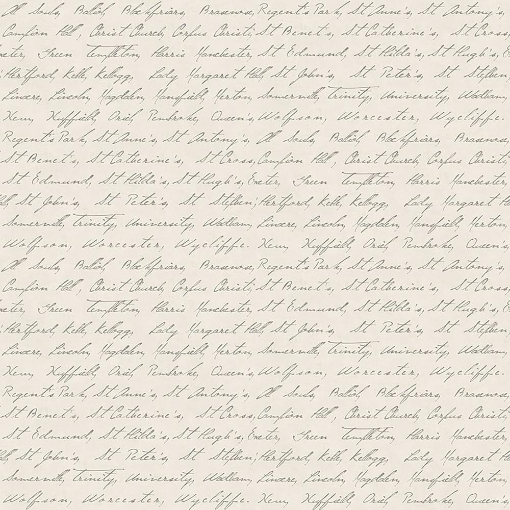 Emeritus Beige Calligraphy Wallpaper Sample