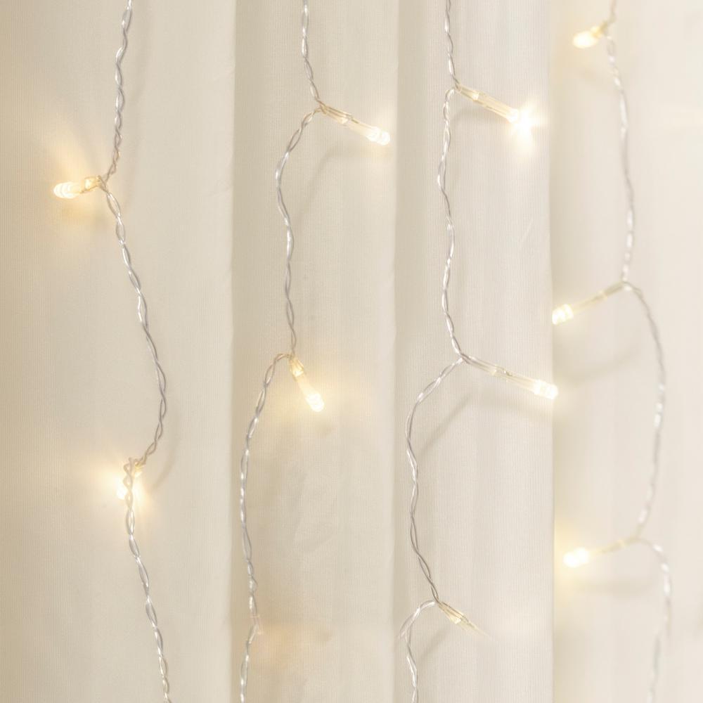 10 ft. 240-Light Warm White LED Curtain Cascading Lighting