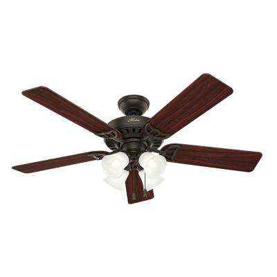 Studio Series 52 in. Indoor New Bronze Ceiling Fan with Light Kit