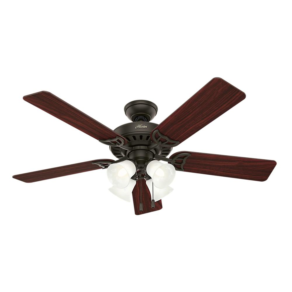 Hunter 52 Chatham New Bronze Ceiling Fan With Light At: Hunter Studio Series 52 In. Indoor New Bronze Ceiling Fan