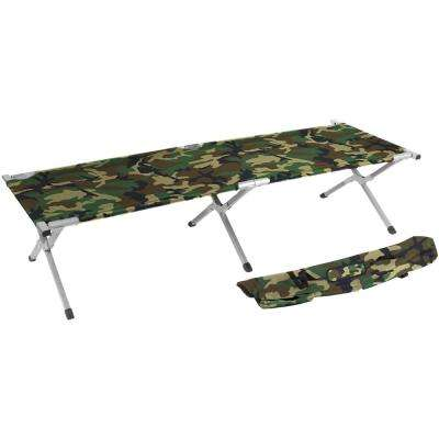 75 in. Portable Folding Camping Bed and Cot - 260 lbs. Capacity Camo