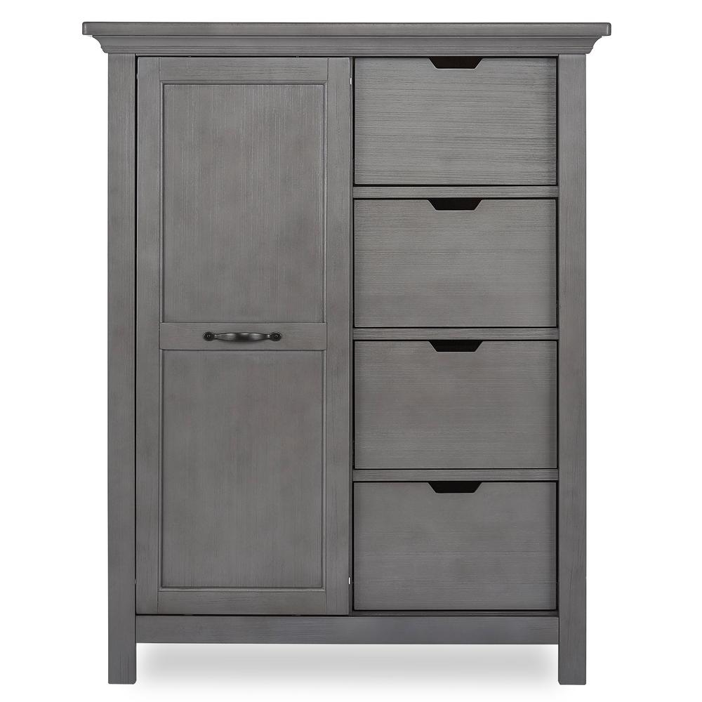 Belmar 4-Drawer Rustic Grey Chest with Shelves
