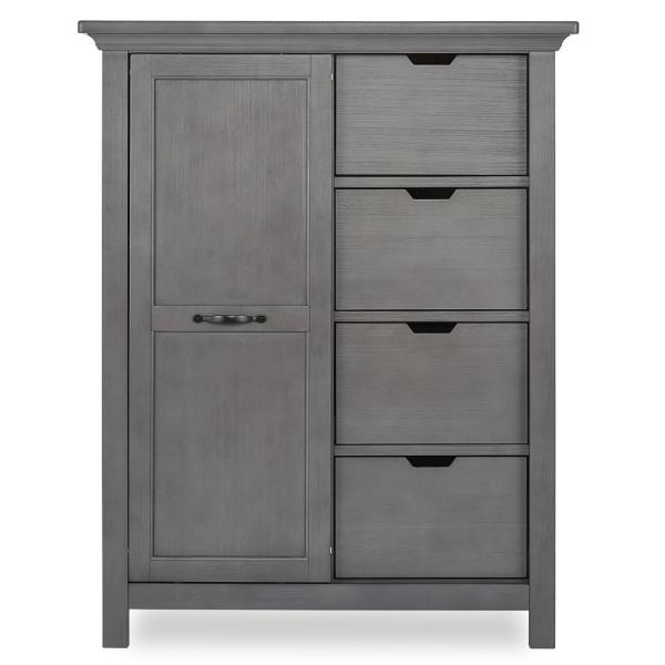 Belmar 4 Drawer Rustic Grey Chest With Shelves
