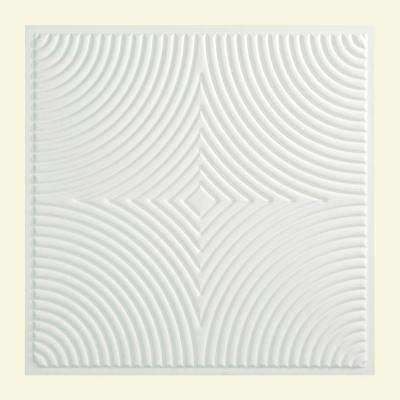 Echo 2 ft. x 2 ft. Vinyl Lay-In Ceiling Tile in Matte White