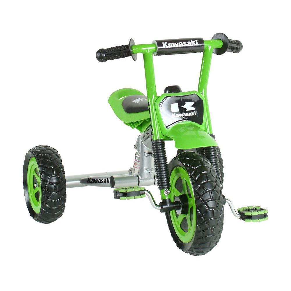 Tricycle, 10 in. Wheels, Suspension Forks, Boy's Trike in Green